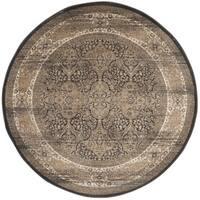 Safavieh Vintage Oriental Black/ Ivory Distressed Rug - 6'7 Round