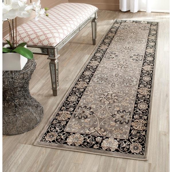 Safavieh Persian Garden Grey/ Black Viscose Rug (2'2 x 8')