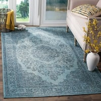 Safavieh Classic Vintage Overdyed Blue Cotton Distressed Rug - 4' x 6'