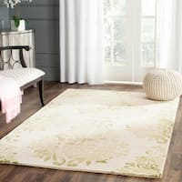 Safavieh Handmade Dip Dye Watercolor Vintage Beige/ Green Wool Rug - 5' x 8'