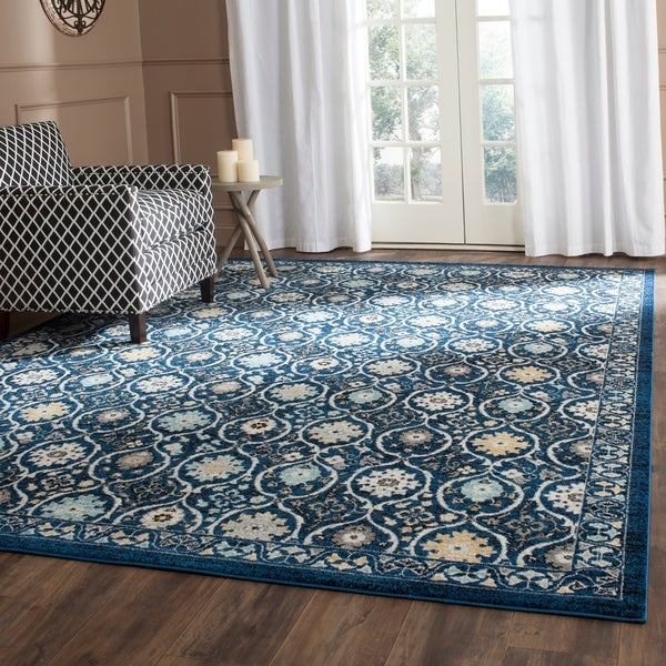 Safavieh Evoke Vintage Royal Blue/ Ivory Distressed Rug - 8' x 10'