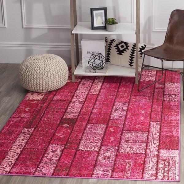 Safavieh Monaco Bohemian Patchwork Pink/ Multi Rug - 8' x 11'