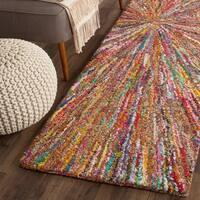 Safavieh Handmade Nantucket Modern Abstract Multicolored Cotton Runner Rug (2' 3 x 8') - 2'3 x 8'