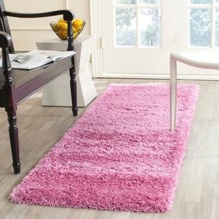Safavieh California Cozy Plush Pink Shag Rug (2'3 x 9')