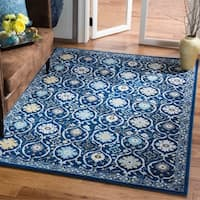 Safavieh Evoke Vintage Royal Blue/ Ivory Distressed Rug - 4' x 6'