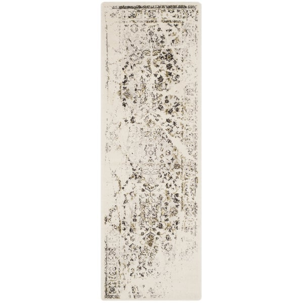 Safavieh Porcello Distressed Ivory/ Light Grey Runner Rug (2'4 x 9')