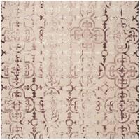 Safavieh Handmade Dip Dye Watercolor Vintage Beige/ Maroon Wool Rug - 7' Square