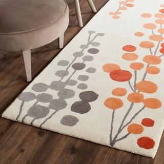 Safavieh Hand-Tufted Soho Beige/ Orange Wool/ Viscose Rug (2'6 x 8')