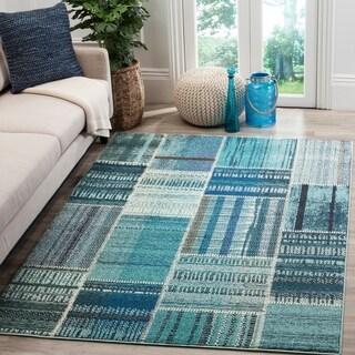 Safavieh Monaco Bohemian Patchwork Blue/ Multicolored Rug (8' x 11')