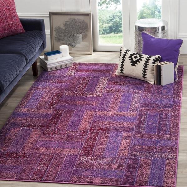 Safavieh Monaco Purple/ Multicolored Rug (8' x 11')