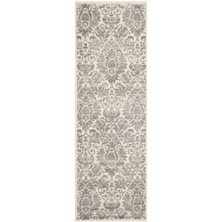 Safavieh Porcello Glam Damask Grey/ Ivory Rug (2'4 x 9')