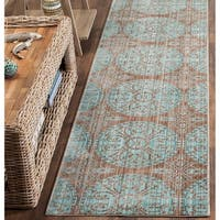 Safavieh Valencia Brown/ Alpine Distressed Silky Polyester Rug - 2'3 x 8'