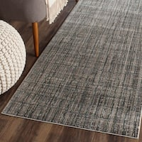 "Safavieh Valencia Grey/ Multi Distressed Silky Polyester Rug - 2'3"" x 8'"