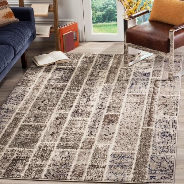 Safavieh Monaco Patchwork Beige/ Multicolored Rug - 8' x 11'