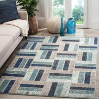 Safavieh Monaco Geometric Grey / Blue Rug - 5'1 x 7'7