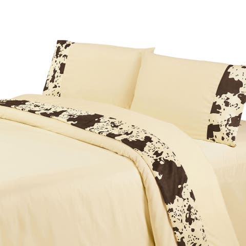 HiEnd Accents Printed Cowhide Sheet Set