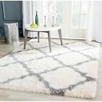 Safavieh Montreal Shag Ivory/ Grey Polyester Rug - 6'7 Square