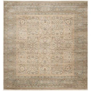 Safavieh Vintage Ivory/ Light Blue Rug (6'7 Square)