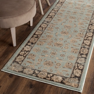 Safavieh Vintage Oriental Light Blue/ Black Distressed Rug (2'2 x 8')