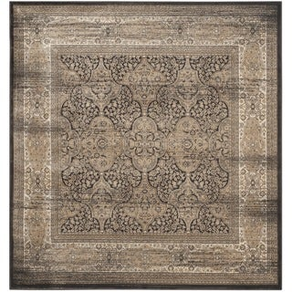 Safavieh Vintage Black/ Ivory Rug (6'7 Square)