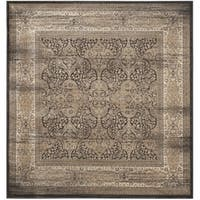 Safavieh Vintage Oriental Black/ Ivory Distressed Rug - 6'7 Square