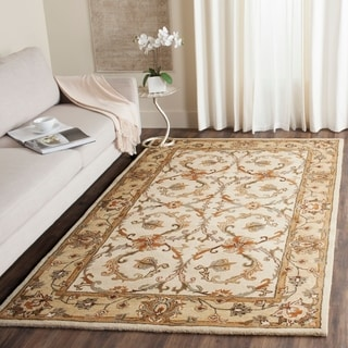 Safavieh Handmade Heritage Timeless Traditional Beige/ Gold Wool Rug (5' x 8')