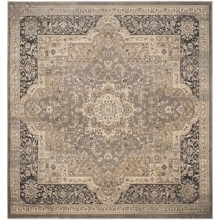 Safavieh Vintage Taupe/ Black Rug (6'7 Square)