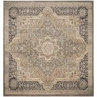 Safavieh Vintage Oriental Taupe/ Black Distressed Rug - 6'7 Square