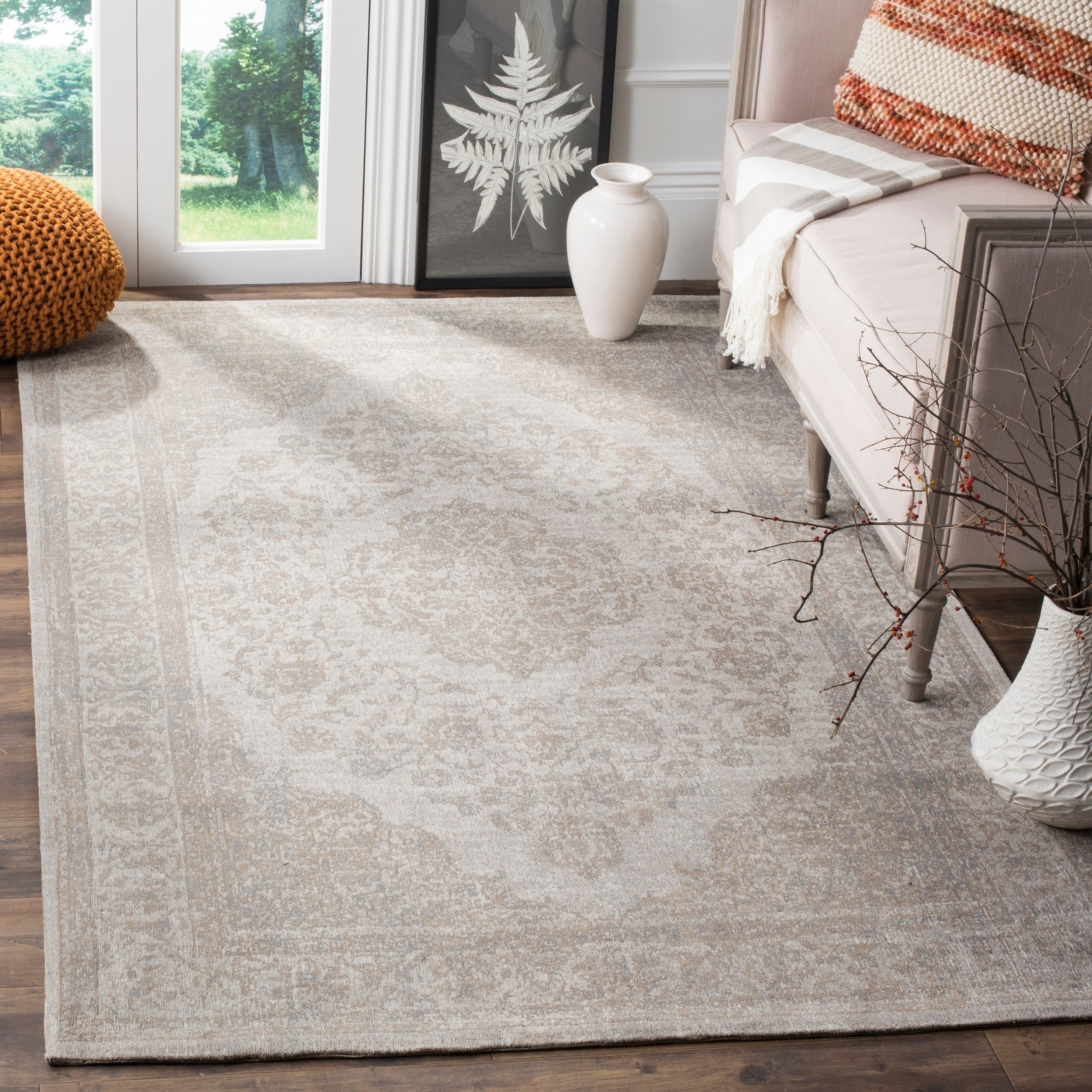 Safavieh Classic Vintage Beige Cotton Distressed Rug (4' ...