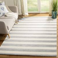 Safavieh Hand-Tufted Cambridge Grey/ Ivory Wool Rug - 4' Square