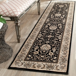 Safavieh Persian Garden Black/ Ivory Viscose Rug (2'2 x 8')