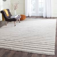 Safavieh Hand-Woven Dhurries Brown/ Ivory Wool Rug - 8' x 10'