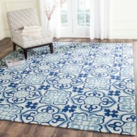 Safavieh Hand-Hooked Four Seasons Blue/ Ivory Polyester Rug - 3'6 x 5'6