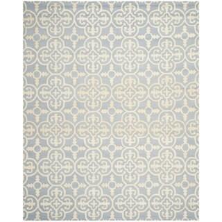Safavieh Handmade Cambridge Lucindy Modern Wool Rug (8 x 10 - Light Blue/Ivory)