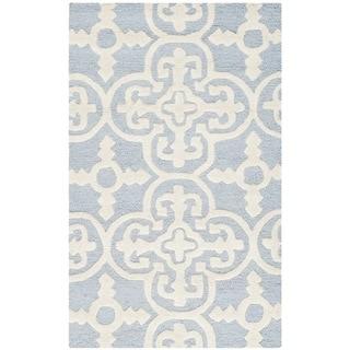 Safavieh Handmade Cambridge Lucindy Modern Wool Rug (2 x 3 - Light Blue/Ivory)