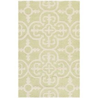 Safavieh Handmade Cambridge Lucindy Modern Wool Rug (26 x 4 - Light Green/Ivory)