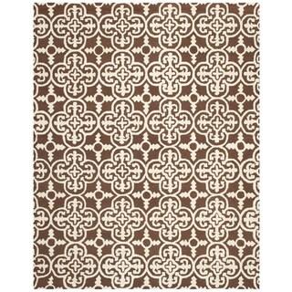 Safavieh Handmade Cambridge Lucindy Modern Wool Rug (6 x 9 - Dark Brown/Ivory)