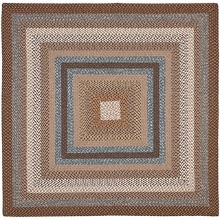 Safavieh Hand-Woven Braided Brown/ Multi Rug (4' Square)