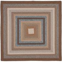 Safavieh Hand-Woven Braided Brown/ Multi Rug (4' Square)
