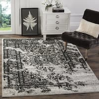 Safavieh Adirondack Vintage Distressed Silver/ Black Large Area Rug - 12' x 18'
