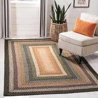 Safavieh Hand-Woven Braided Blue/ Multi Rug - 4' Square