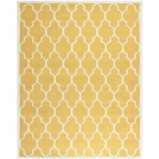 Safavieh Hand-Tufted Cambridge Gold/ Ivory Wool Rug (11'6 x 16')
