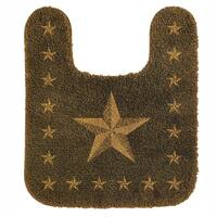 HiEnd Accents Contour Star Dark Tan Acrylic Bath Rug