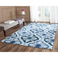 Safavieh Hand-Hooked Four Seasons Navy / Blue Polyester Rug - 3'6 x 5'6