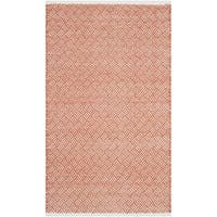 Safavieh Hand-Tufted Boston Orange Cotton Rug - 3' x 5'