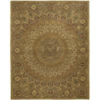 Safavieh Handmade Heritage Timeless Traditional Light Brown/ Grey Wool Rug - 11' x 16'