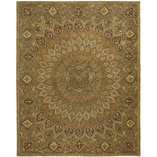 Safavieh Handmade Heritage Timeless Traditional Light Brown/ Grey Wool Rug - 11' x 16'