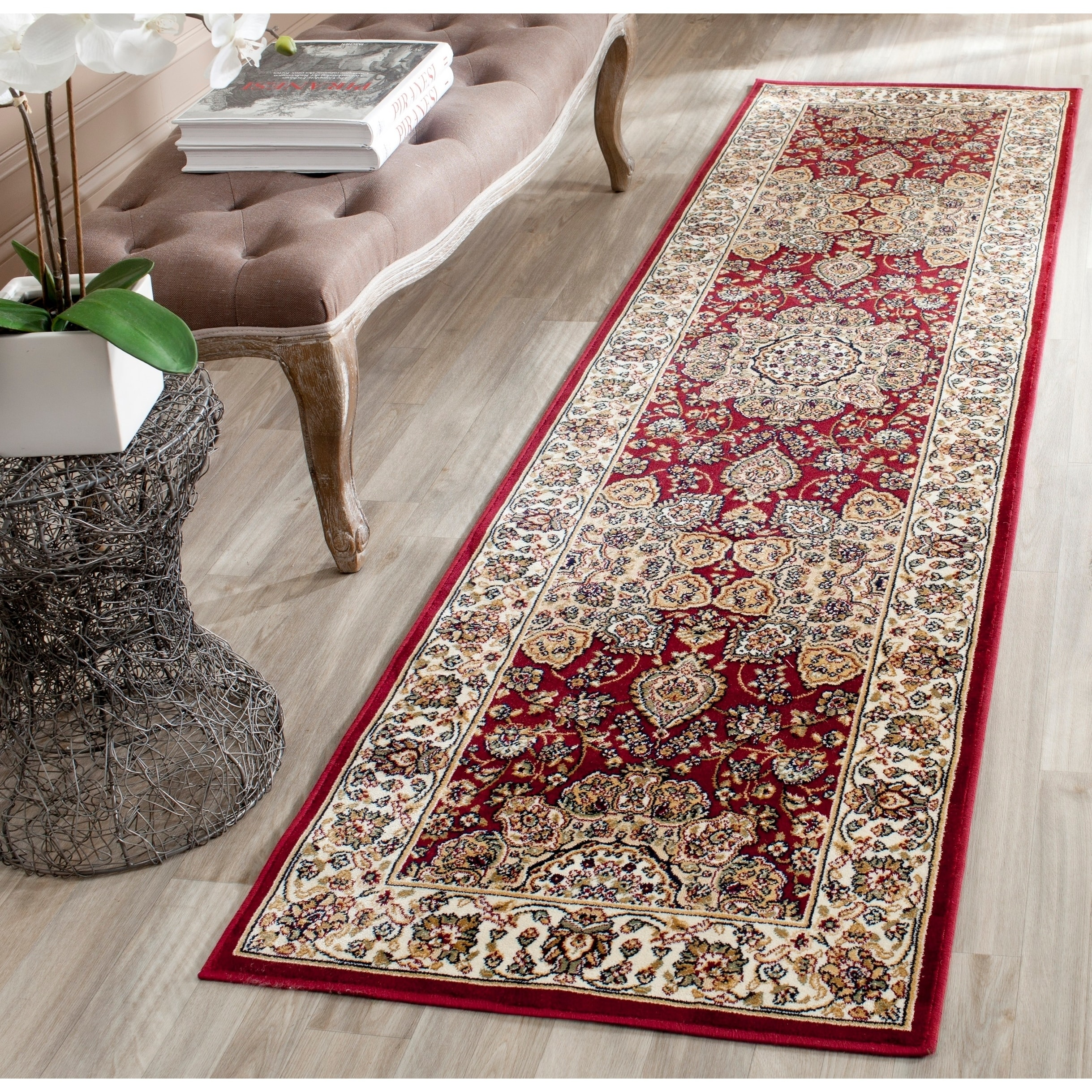Safavieh Persian Garden Red/ Ivory Viscose Rug (2'2 x 8')...