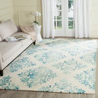Safavieh Handmade Dip Dye Watercolor Vintage Ivory/ Light Blue Wool Rug - 8' x 10'