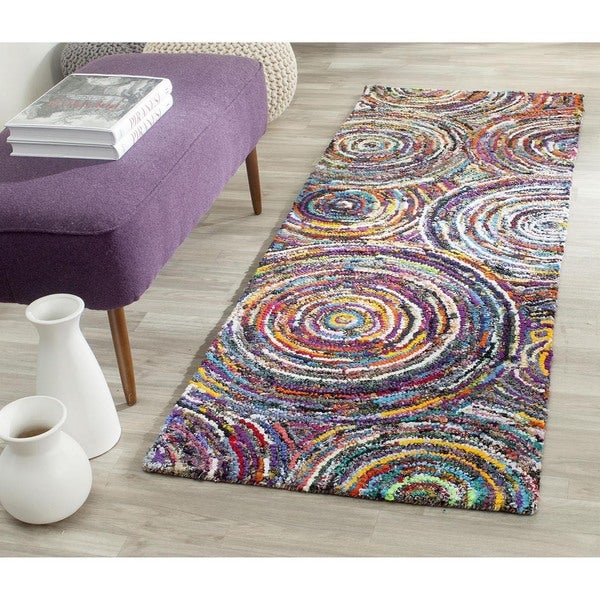 Safavieh Hand-Tufted Nantucket Multi Cotton Rug (2'3 x 8')